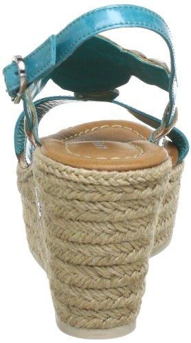 Apepazza OMBRETTA VERNICE/VACCHETTA 503415 51753, Sandali con la zeppa donna Multicolore (Mehrfarbig (TURCHESE/NATURALE))