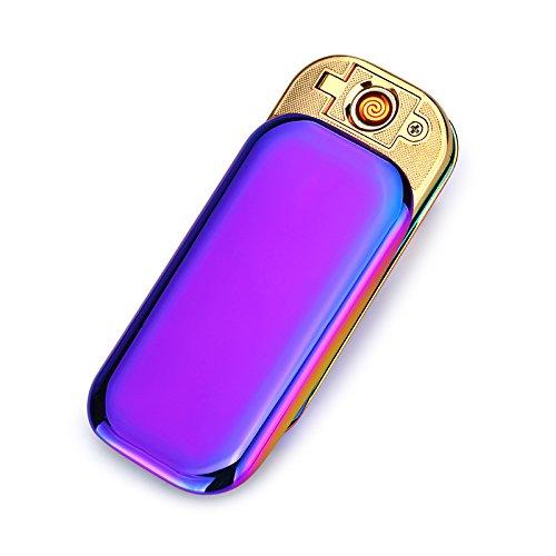 USB Elektronisches Ber&uumlhren Feuerzeuge Windfest Elektronisch Zigarre Zigarette Feuerzeug Aufladbare (Lila)