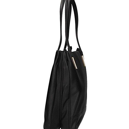 RoccoBarocco ROBS2AD04 Shopping Bag Donna Nero