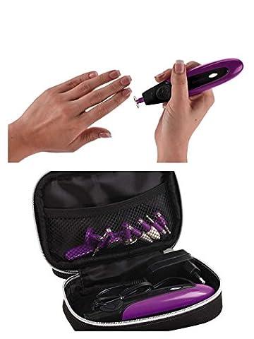 2in1 Akku Maniküre Set und Pediküre Set 11 tlg Verschiedene Aufsätzen LED Licht (Manikür, Pedikür, Kosmetische Handpflege, Fusspflege, Elektrische Nagelfeile, Feile, Nageltrockner,