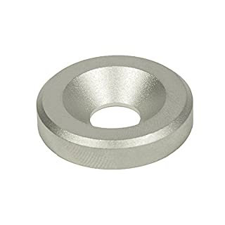 J.W. Winco 6341-NI-10-32-B-MT GN6341-NI Washer with Bore for Countersunk Screw, 10 mm Bore, 32 mm OD, 6.5 mm Thickness, Stainless Steel