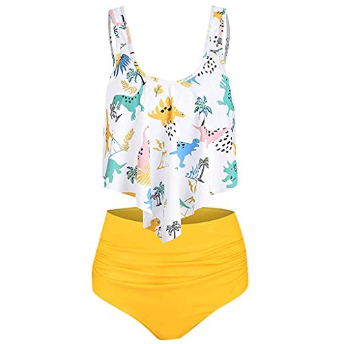 Rusty Herren Bademode (COZOCO Damen 2019 Bikini Neckholder Leopard Bikini Oberteile and Slip Hose Badeanzug)