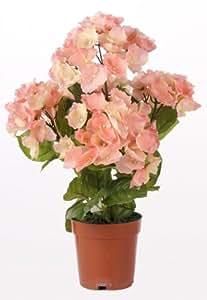 Artif-deco - Hortensia artificiel en pot leste rose antique h 45 cm 117 fleurs 5 tetes - choisissez votre coloris: rose antique