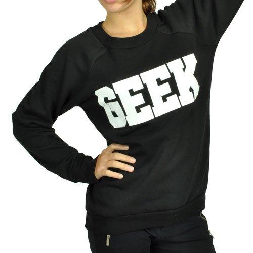CBKTTRADE Sweat-shirt sexy Motif logo Brooklyn NY Pour femme Sous sachet Multicolore - GEEK  (Schwarz)