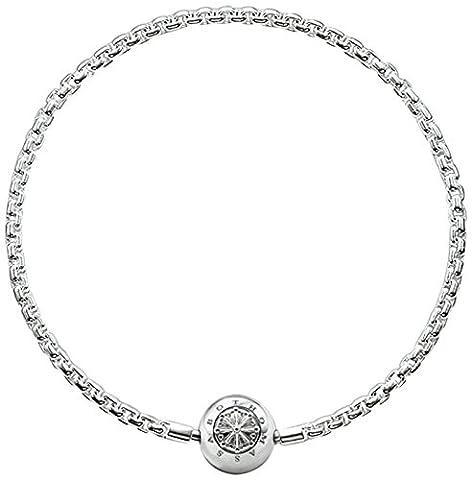 Thomas Sabo Femmes Hommes-Bracelet Karma Beads Argent Sterling 925 Longeur 19 cm KA0001-001-12-L20