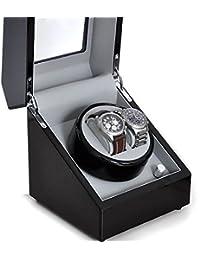 Klarstein Coffret Watch winder remontoir (pour 2 montres automatiques, silencieux, finition de qualité, 2 support amovible en cuir)