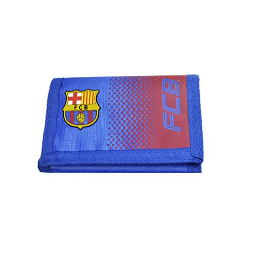Portemonnaie, original Fußballmannschaft-Fanartikel, mit Logo und Klettverschluss (verschiedene Vereine zur Auswahl), FC Barcelona, Etui (Chain Logo Wallet)