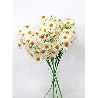 takestop® Margaritas Blancas 6Ramas de 8Piezas Margarita postizas Altura Aproximadamente Artificiales decoración composiciones de Flores Fiestas casa