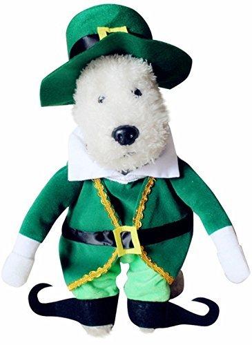 Haustier Hund Katze Irisch Kobold St Patricks Kostüm Kleid Outfit Kleidung S-XL - (Outfits Kobold)