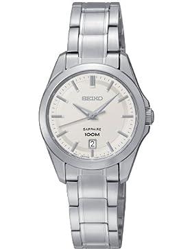 Seiko Damen-Armbanduhr XS Analog Quarz Edelstahl SXDF55P1