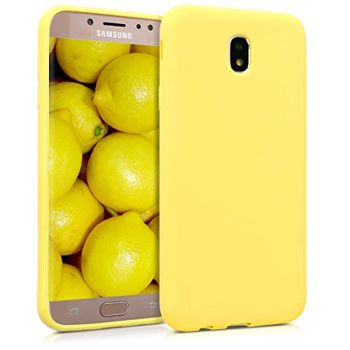kwmobile Samsung Galaxy J7 (2017) DUOS Hülle - Handyhülle für Samsung Galaxy J7 (2017) DUOS - Handy Case in Pastellgelb matt