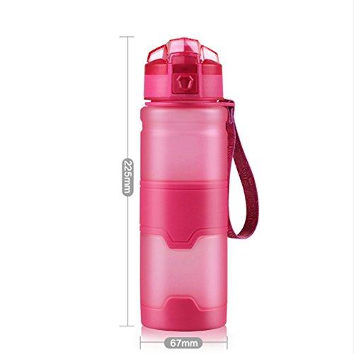 Sport Wasser Flasche oz/500ml dinchengag BPA-frei mit Auslaufsicher Flip Top Trinkflasche Tritan Kunststoff Fitness für Laufen Reisen Outdoor Camping für Kinder Kinder Studenten, rosarot