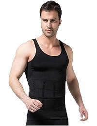 Tri-Slim Body Shaper For Men Slimming Shirt Vest Weight Loss Fat Blocker Burner not Pills (L (47