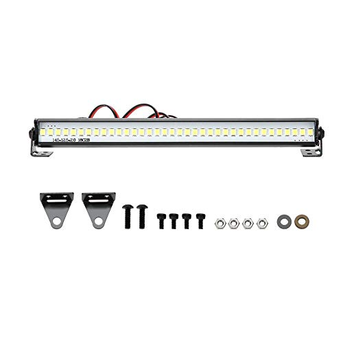 Dilwe 155mm Universal Lámpara de Techo Barra de Luz LED para 1/10 Escala RC Crawler Coche