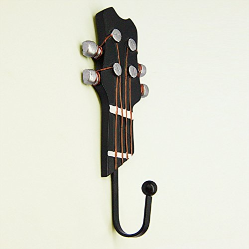 Vejaoo 3 Stück Gitarre Geformt Metall Wand Haken Vintage Handtuch Coat Wandhalter Kleiderbügel Haken - 3