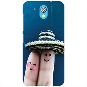 HTC Desire 526G Plus Back Cover - Two Fingers Designer Cases