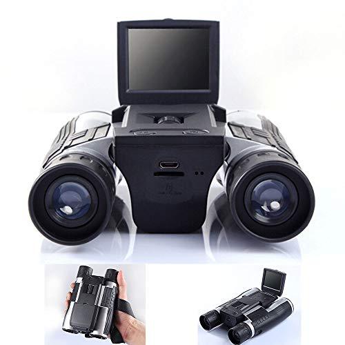 YMNL Binoculares Digital cámara telescopio con 2,0 Pulgadas LTPS (4:3) Color Pantalla LCD 720p 30 Cuadros por Segundo grabación de Foto función Dual para Ver pájaro de fútbol Concierto de Juego