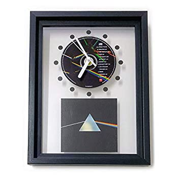 PINK FLOYD – The Dark Side Of The Moon: GERAHMTE CD-WANDUHR/Exklusives Design