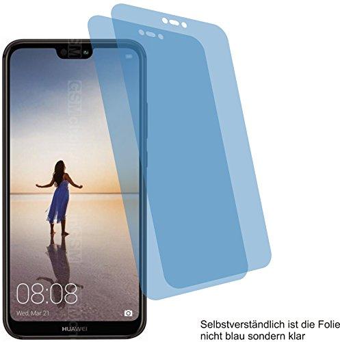 4ProTec 2X Crystal Clear klar Schutzfolie für Huawei P20 Lite Bildschirmschutzfolie Displayschutzfolie Schutzhülle Bildschirmschutz Bildschirmfolie Folie