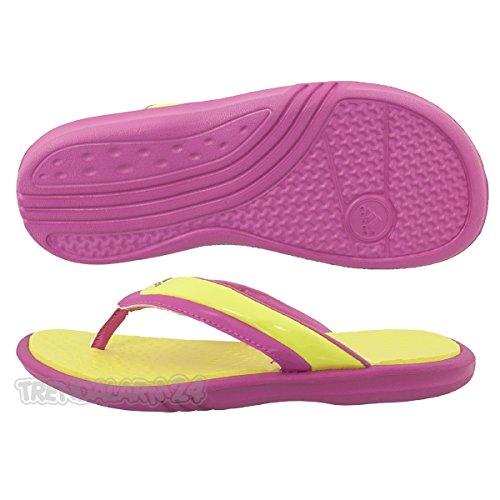 Adidas Badesandalen Novellito K Unisex prime yellow-intense pink (G46162)