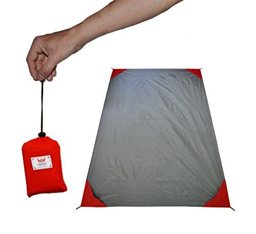 polaar - XL Outdoor-, Picknickdecke und Stranddecke, wasserdicht, ultraleicht, 200 cm x 150 cm, mit Tasche
