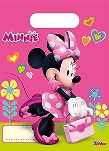 Disney Minnie mouse Bolsas de fiesta, color rosa (Procos 53826)