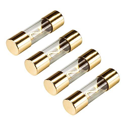 tomzz Audio 5800-016 KFZ AGU Sicherung Glas 50A, 10x38mm, vergoldete Kontakte, 4 Stück