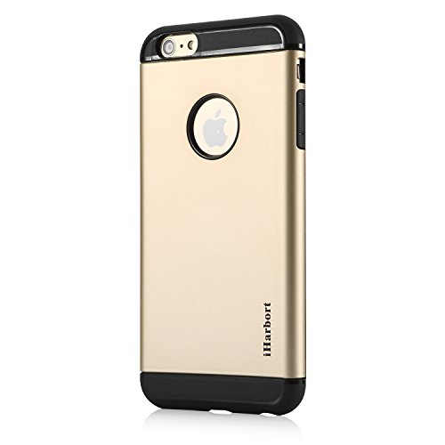 iPhone 6S Plus Hülle - iHarbort® ULTRA Rüstung iPhone 6 6S Plus Hülle Tasche case cover Schutzhülle mit Dual-layer Shock Absorbion funktion iPhone 6 6S Plus Cover (weiß) gold