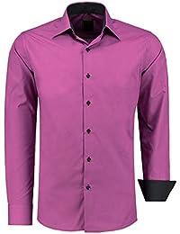 J S FASHION Herren-Hemd – Slim-Fit – Bügelleicht – Für Anzug, Business 9ef21ffec7