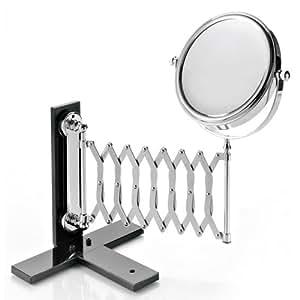 toutoffrir miroir grossissant mural x 5 avec bras extensible cuisine maison. Black Bedroom Furniture Sets. Home Design Ideas