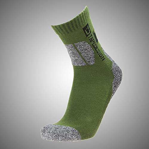 Tapedesign Outdoor Socken, Green/Grey, One Size