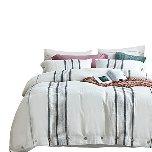JASONN Bettwäsche 4 Stück 1 * Bettbezug 1 * Spannbetttuch 2 * Kissenbezüge, feuchtigkeitsabsorbierende und atmungsaktive antistatische Bettwäsche,1.5/1.8mbed