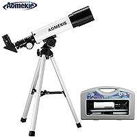 Aomekie Kids Refractor Astronomy Telescope 360X50mm Portable Scope with Hard Case(F36050)