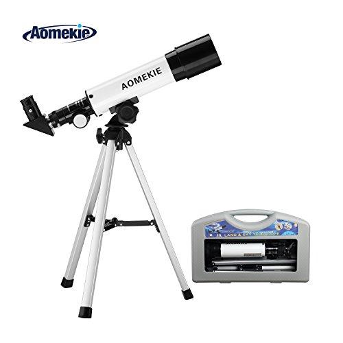 Aomekie Telescopio Astronomico Niños 50/360 Trípode
