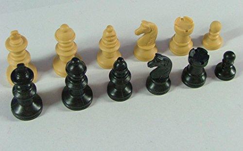 Schachfiguren-Nr-45017-beigeschwarz-Knigshhe-55-mm-Staunton-Form