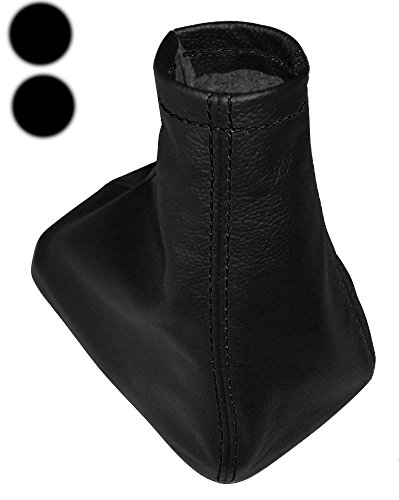100/% Genuine Leather Covers with Black Stitching Gear Shift Lever Bellows and Hand Brake Gaiter Aerzetix