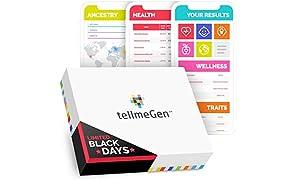 TellmeGen Test DNA Salute + Ancestry (Origini) | Il Test del DNA più completo (Malattie più importanti, Ancestry, Compatibilità Medicinali, ecc.) | Include: Aggiornamenti a vita