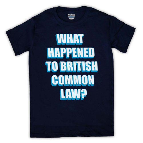 What Happened To British Common Law Protest Herren T-Shirt Ultramarinblau