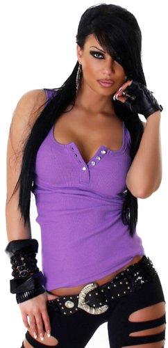 JELA London - Débardeur - Col ras du cou - Sans manche - Femme Violet - Purple - Lilac
