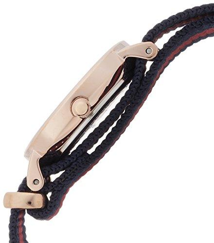 Daniel-Wellington-womens-quartz-Watch-with-beige-Dial-analogue-Display-and-multicolour-nylon-Strap-0905DW