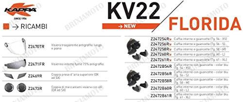 Kappa RICAMBIO Z2472B61R - CUFFIA INTERNO E GUANCETTE
