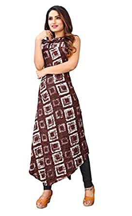 Neo Queen Women's Fabric Rayon Straight Kurti