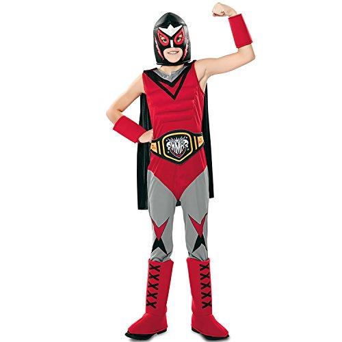 EUROCARNAVALES Kinder Kostüm Wrestler The Giant Wrestling Ringer Karneval Mottoparty (7-9 ()