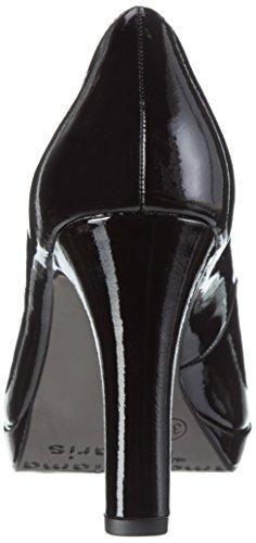 Tamaris 22426, Escarpins Femme, Weiß, 36 EU Noir (Black Patent 018)