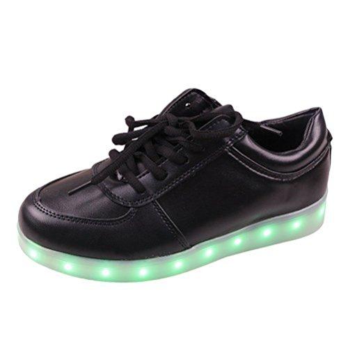 [Présents:petite serviette]JUNGLEST® - 7 Couleur Mode Unisexe Homme Femme Fille USB Charge LED Chaussures Lumière Lumineux Clignotants Chaussures de marche Haut-Dessus LED Ch c6