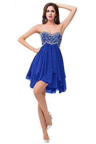 Sunvary , motivo: strass, colore: arancione con rouches Homecoming Party da ballo Royal Blue