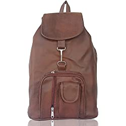 Typify Casual Purse Fashion School Leather Backpack Shoulder Bag Mini Backpack for Women & Girls (Tan)