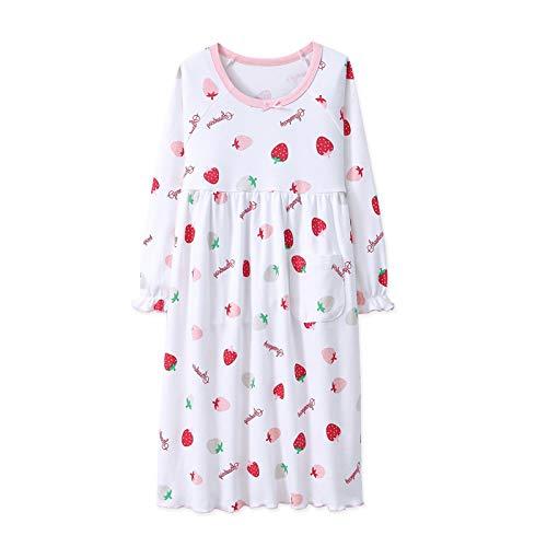 Fruta Camisones de Niña 100% algodón Camisa de Dormir de Manga Larga para 7-8 años