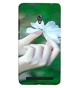Printvisa White Flower Depicting Nature Back Case Cover for Asus Zenfone 6::Asus Zenfone 6 A600CG