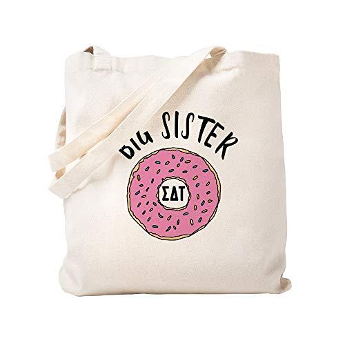 CafePress Sigma Delta Tau Big Donut Tragetasche, canvas, khaki, S - Delta Geschenke Delta Delta Sorority